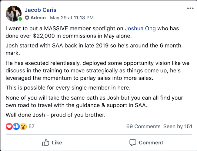 Josh Ong SAA