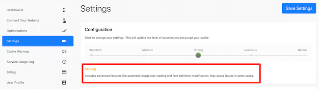 Automated feature