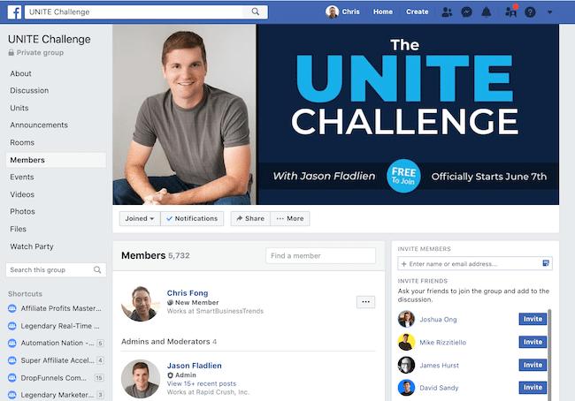 Unite Challenge FB Group