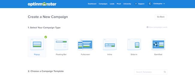 Campaign templates