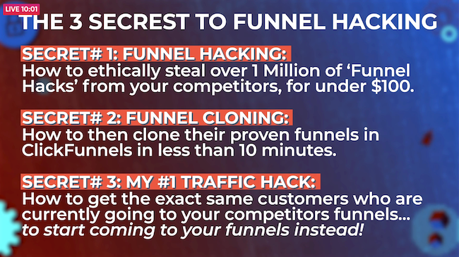 3 secrets to funnel hacking