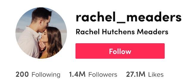 RachelMeadersTikTok profile