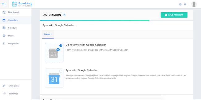 Automations calendar