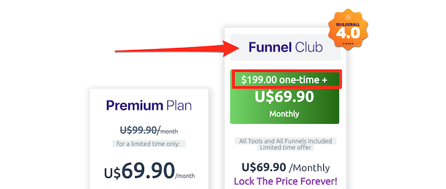 The Funnel Club monthly plan