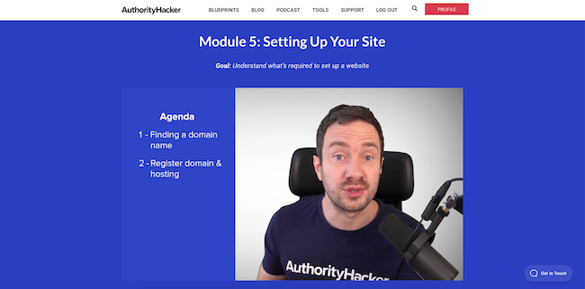 Setting up your site