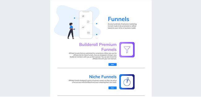 the Funnel Club template