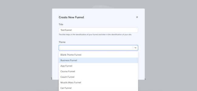 Creating new funnel