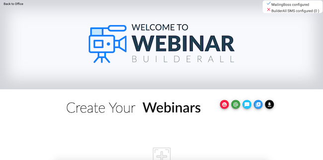 Creating your first webinar