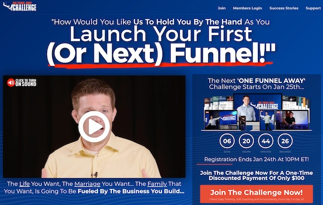 One Funnel Away Challenge Homepage