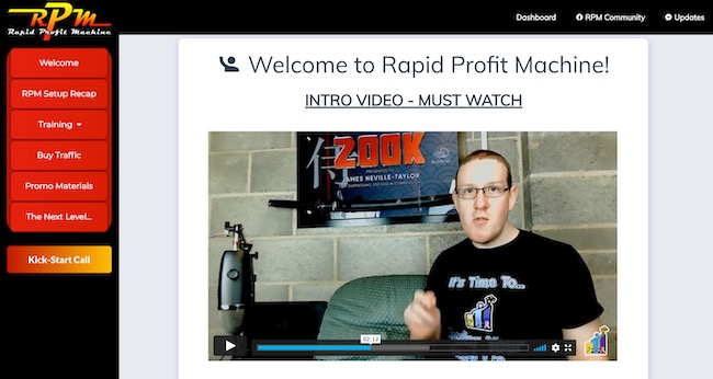 Rapid Profit Machine member area