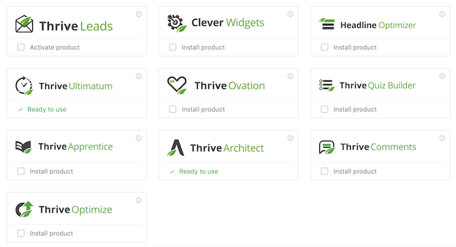 thrive suite plugins