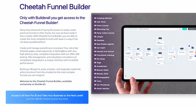 BuilderAll Cheetah Funnel Builder