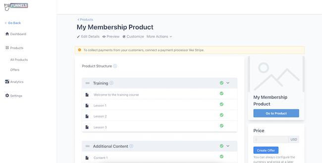 The FG Funnels membership product