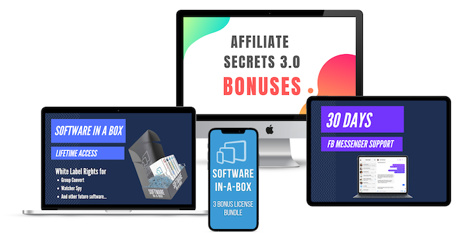 Affiliate Secrets 3.0 Bonus Bundle